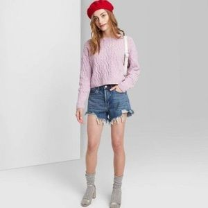 Wild Fable High Rise Button Fly Short Raw Hem 18